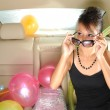 Asian chinese heiress traveling to a party — Stock Photo