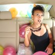 Asian chinese heiress traveling to a party — Stock Photo #6663201