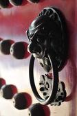 Close-up de detalhes da porta da arquitetura chinesa — Fotografia Stock