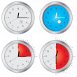 Stock Vector: Special vector clock