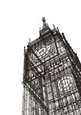 London Big Ben sketch — Stock Photo