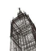 伦敦大笨钟素描 — 图库照片