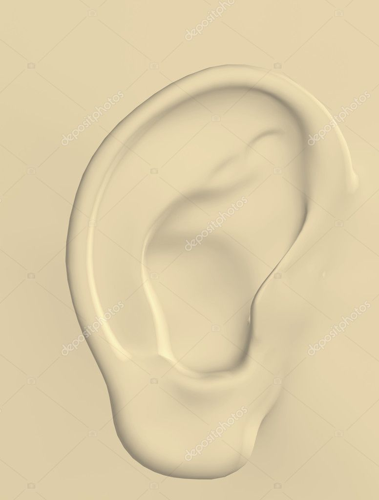 3d illustration of a human ear — Stock Photo #6250691