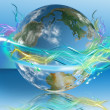 Luminescent world - Stock Photo