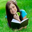 Woman reads book - Foto de Stock