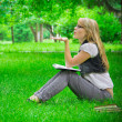 Stock Photo: Beautiful girl in the park