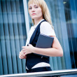 Confident young business lady — Stock Photo