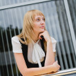 Business woman thinking — Stock Photo
