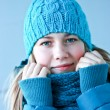 Stock Photo: Beautiful girl in winter clothes