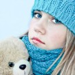 Girl with teddy bear — Stock Photo #6686845