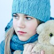 Girl with teddy bear — Stock Photo #6686859