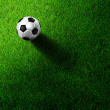 Stock Photo: Soccer football on grass field