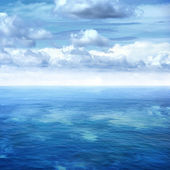 Sea and blue sky — Stock Photo