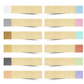 Color pad recycled paper stick on white background — Stock Photo