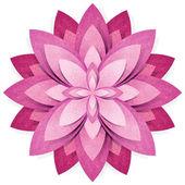 çiçek origami kağıt el sanatları sopa beyaz zemin üzerine geri dönüştürülmüş — Stok fotoğraf