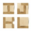 Origami alphabet letters recycled paper craft — Stock Photo