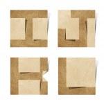 lettres de l'alphabet origami recyclé papier craft — Photo