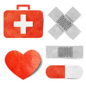 Medical & health-care tag recycled paper craft — Zdjęcie stockowe