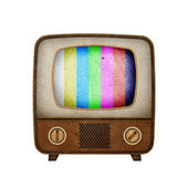 Television ( TV ) icon recycled paper stick on white background — Stock Photo