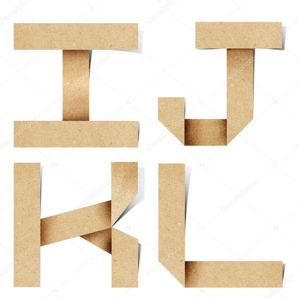 Буква о оригами