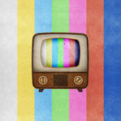 Television ( TV ) icon recycled paper — Stock Photo