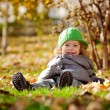 Baby in autumn — Foto de Stock