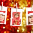 Stock Photo: Child in Santa hat