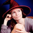 Witch with pumpkin — Stock Photo #6325539