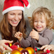 Happy family in Christmas — Stock Photo