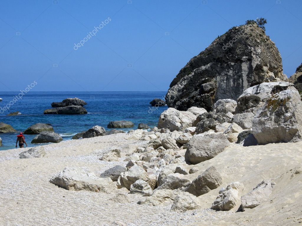 It is a little bay in the gulf of Orosei Sardinia Italy — Stock Photo #6272993