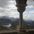 Panoramic view from the castle of Neuschwanstein — Stock Photo