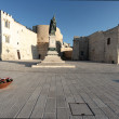 Square in front the sea in Otranto — Foto Stock