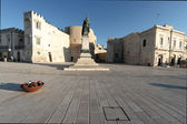 Square in front the sea in Otranto — Стоковое фото