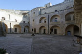Interior of Aragonse Castle Puglia — Stock Photo