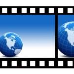 la película y la tierra — Foto de Stock