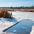 Winter ice-hole for swimming in cold water — Stock Photo