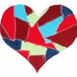 Royalty-Free Stock Photo: Fabric scraps heart