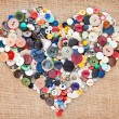 Buttons heart. Valentine's Day — Stock Photo