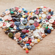 Stock Photo: Buttons heart. Valentine's Day