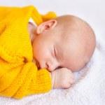 Dreaming newborn baby boy — Stock Photo