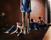 Drug addiction and suicide. Social problem — Stock Photo