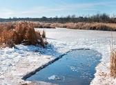 Invierno hielo-agujero para nadar en agua fría — Foto de Stock
