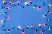 Christmas lights frame — Stock Photo