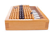 Accounting abacus isolated on white background — Stock Photo