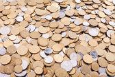 Ukrainian coins background — Stock Photo