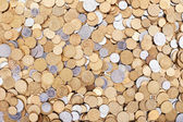 Ukrainian coins background — Stockfoto