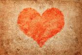 Grunge heart. Valentine's Day — Stock Photo