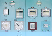 Control panel with instrumentation — Stock Photo