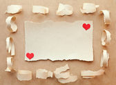 Handmade card from paper. Love letter.Valentine's Day — Stock fotografie