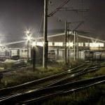 The train depot — Stock Photo